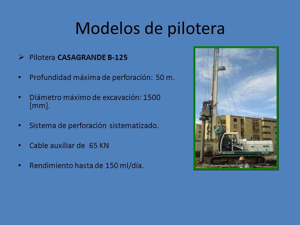 Modelos de pilotera Pilotera CASAGRANDE B-125