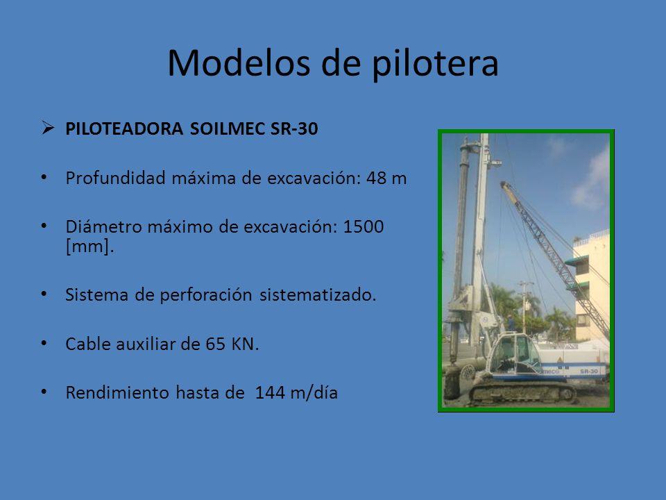 Modelos de pilotera PILOTEADORA SOILMEC SR-30