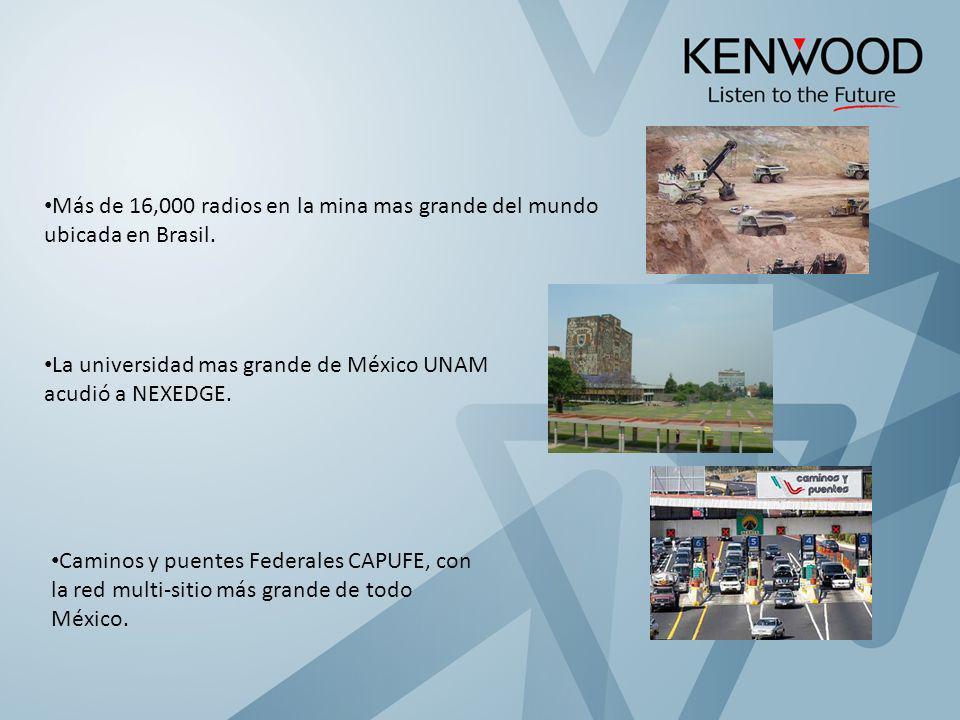 Más de 16,000 radios en la mina mas grande del mundo ubicada en Brasil.
