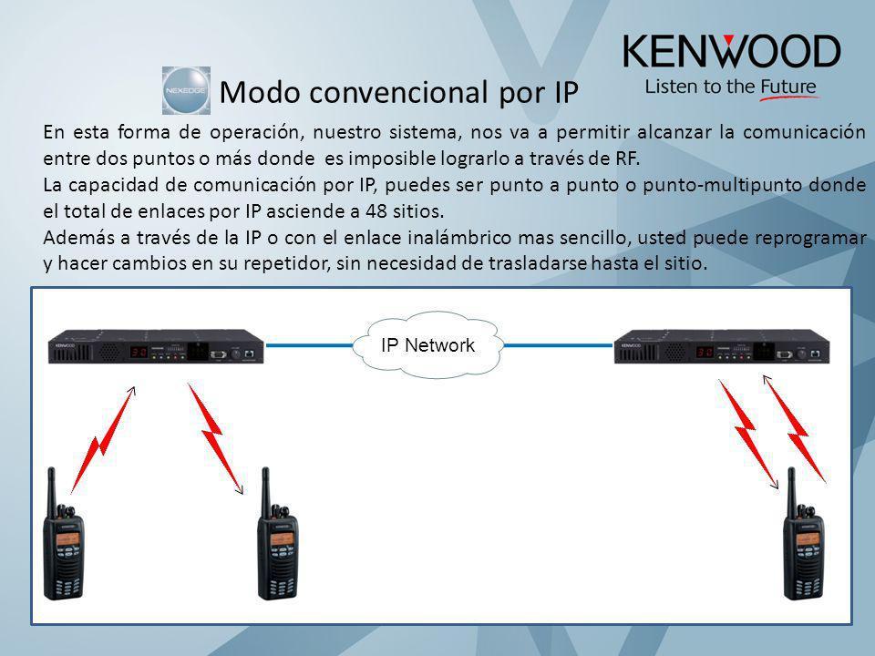 Modo convencional por IP