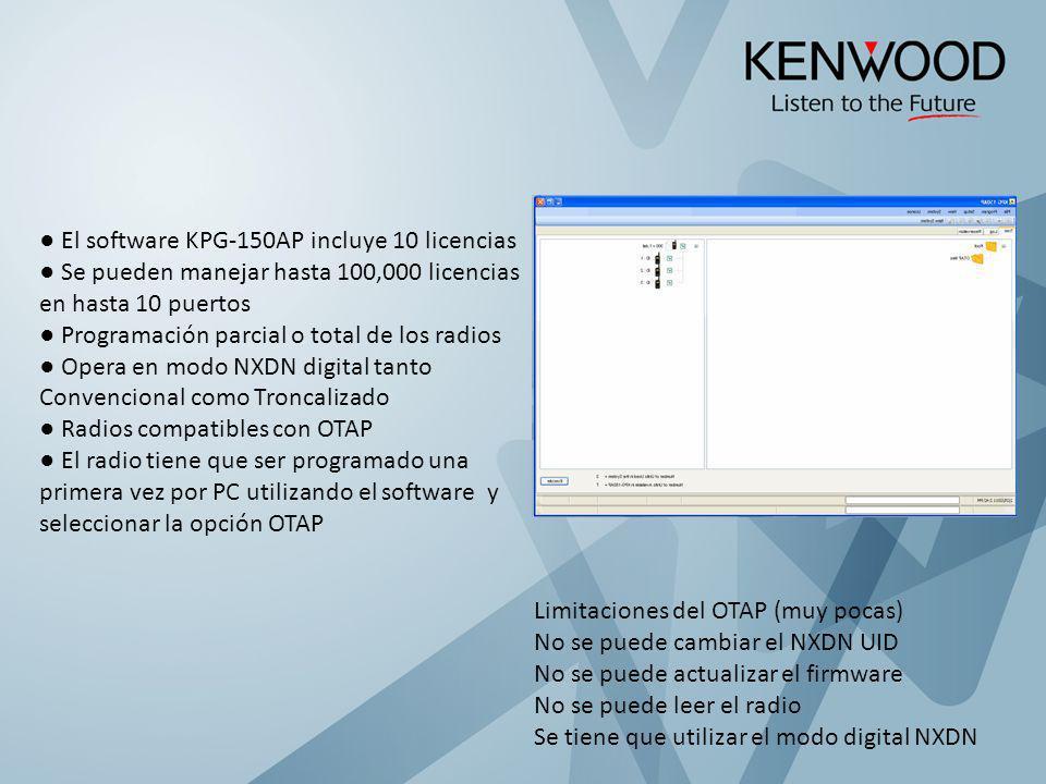 ● El software KPG-150AP incluye 10 licencias
