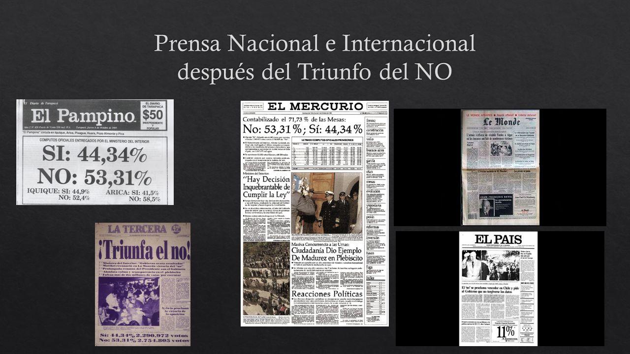 Prensa Nacional e Internacional después del Triunfo del NO