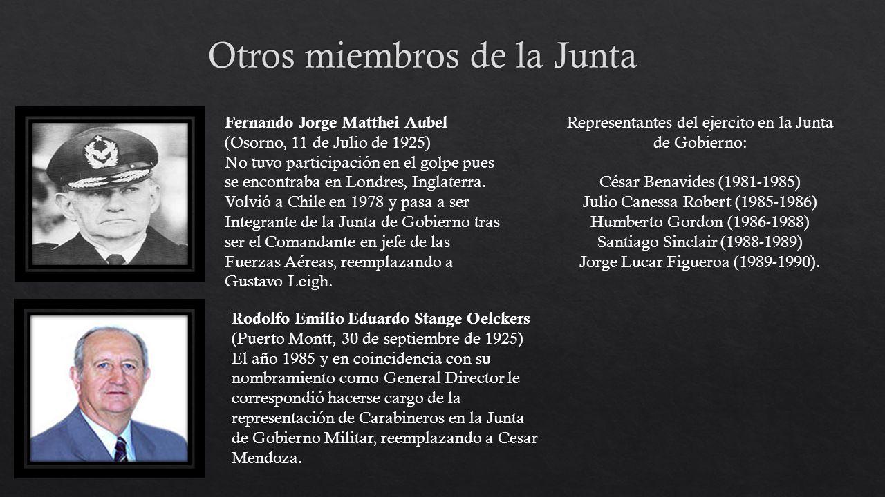 Otros miembros de la Junta
