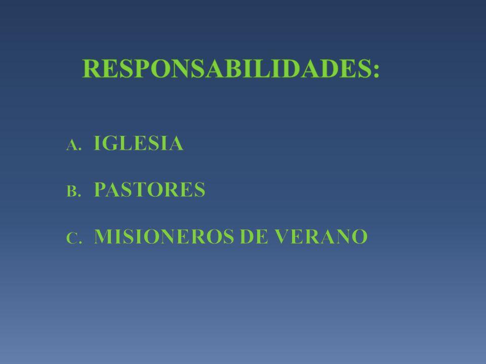 IGLESIA PASTORES MISIONEROS DE VERANO