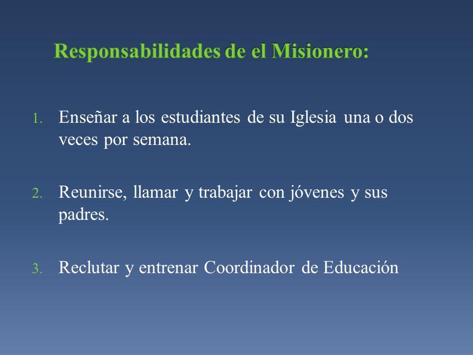 Responsabilidades de el Misionero: