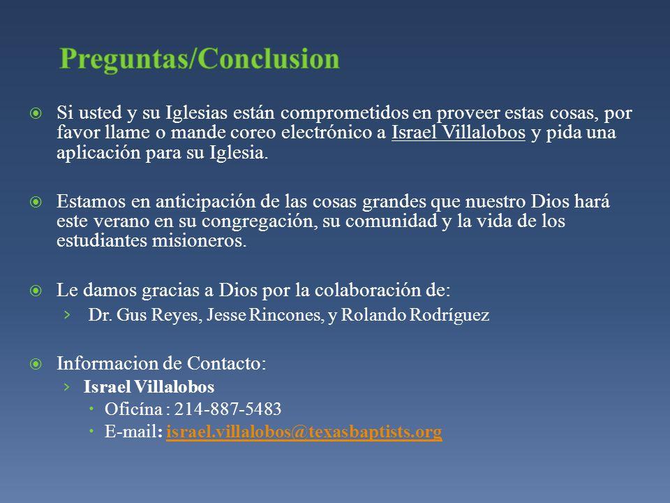 Preguntas/Conclusion