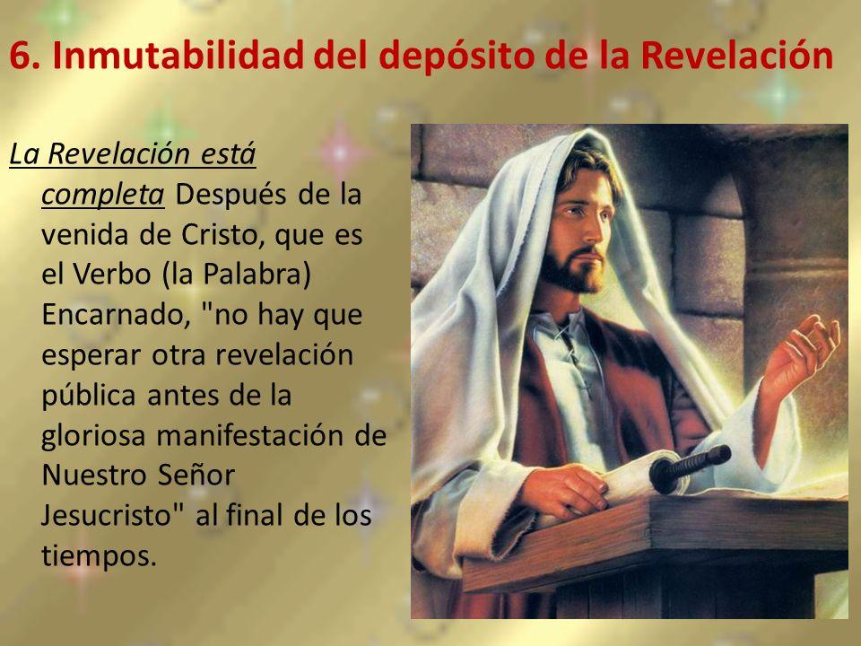 6. Inmutabilidad del depósito de la Revelación