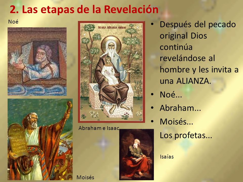 2. Las etapas de la Revelación