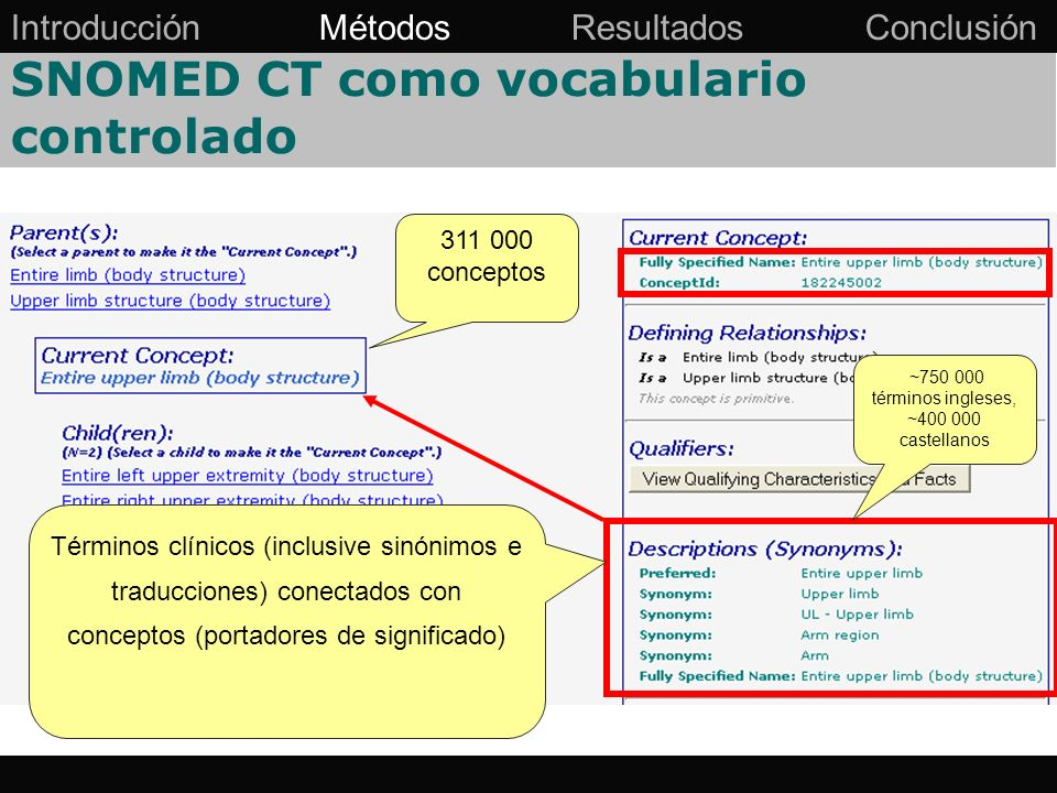 SNOMED CT como vocabulario controlado