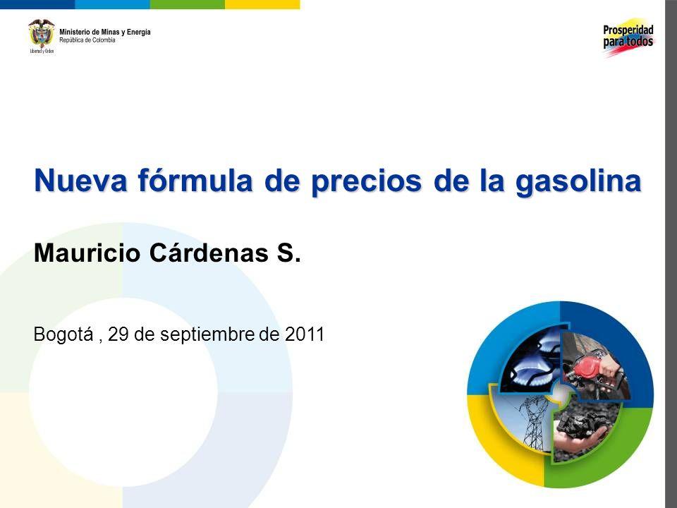 Nueva fórmula de precios de la gasolina