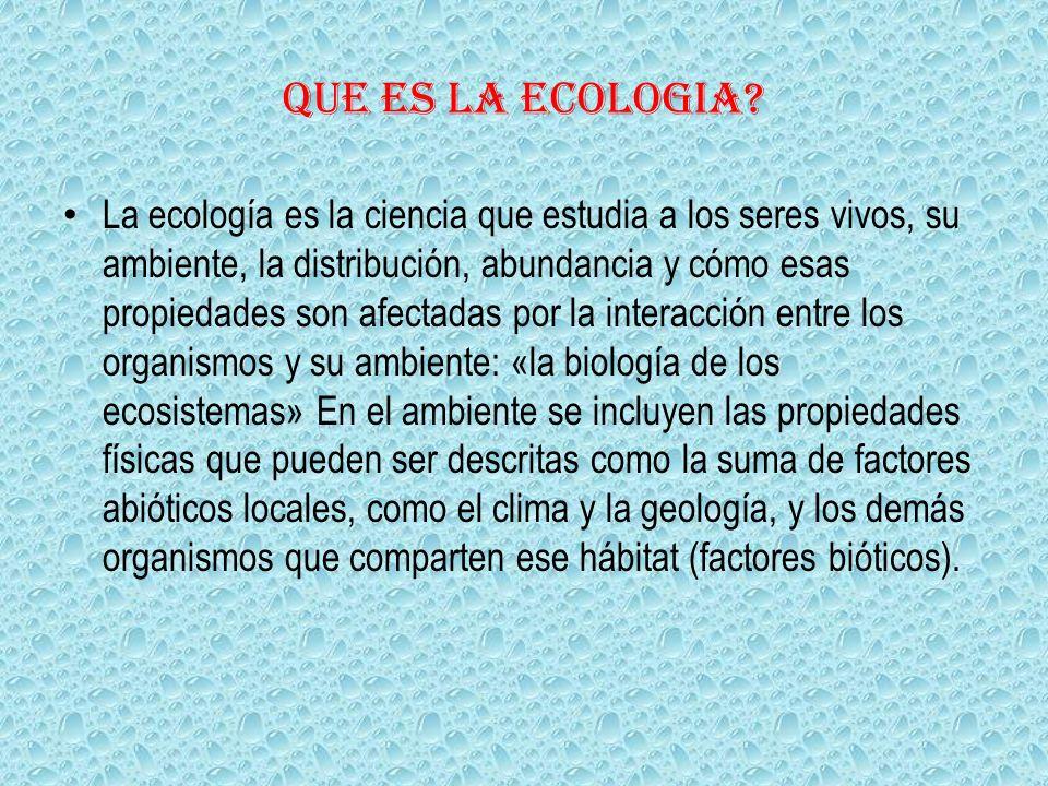 Que es la ecologia