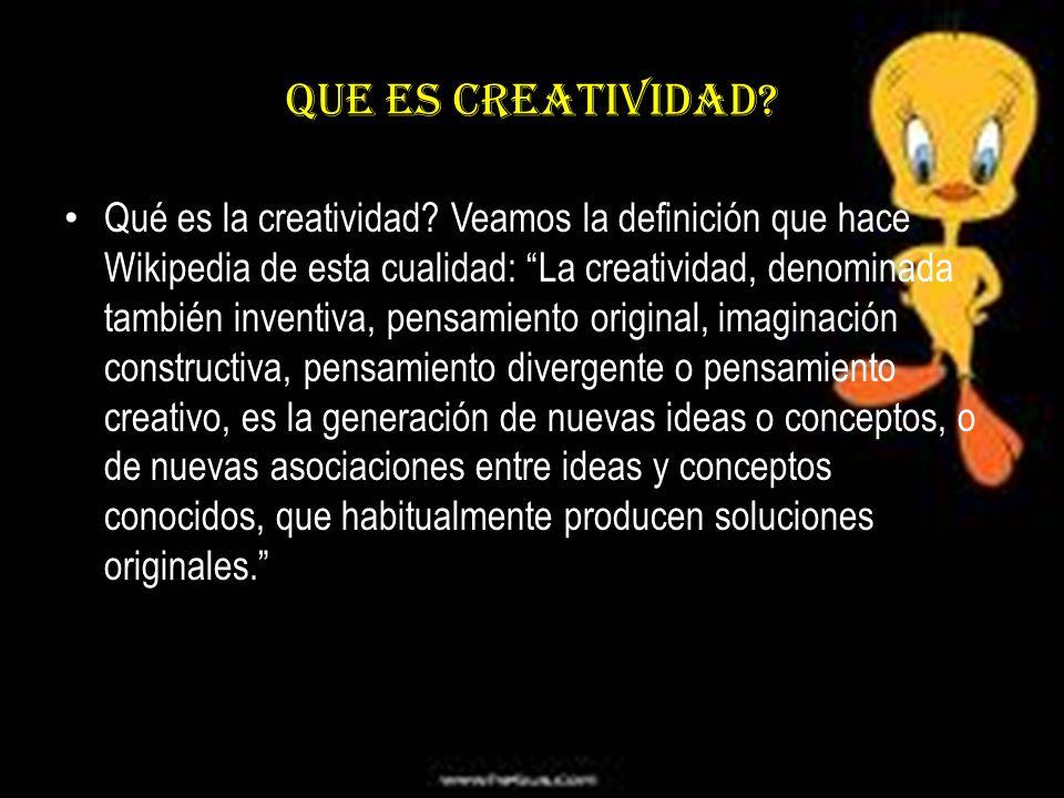 Que es creatividad