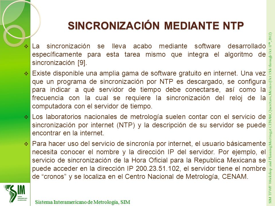 SINCRONIZACIÓN MEDIANTE NTP