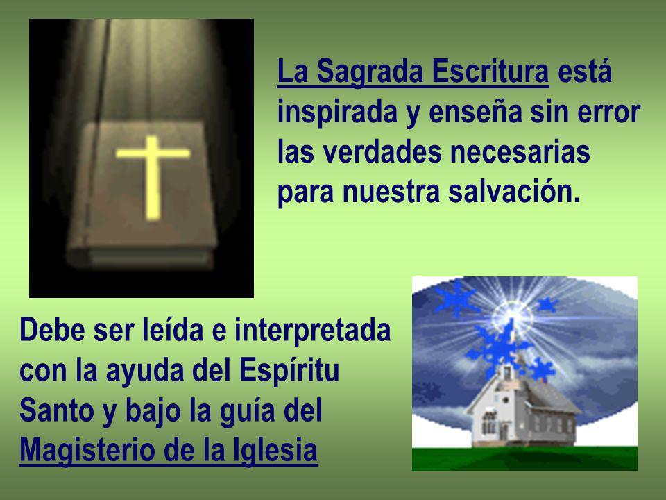 La Sagrada Escritura está