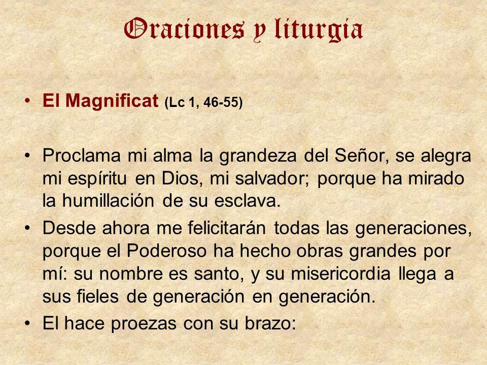 Oraciones y liturgia El Magnificat (Lc 1, 46-55)