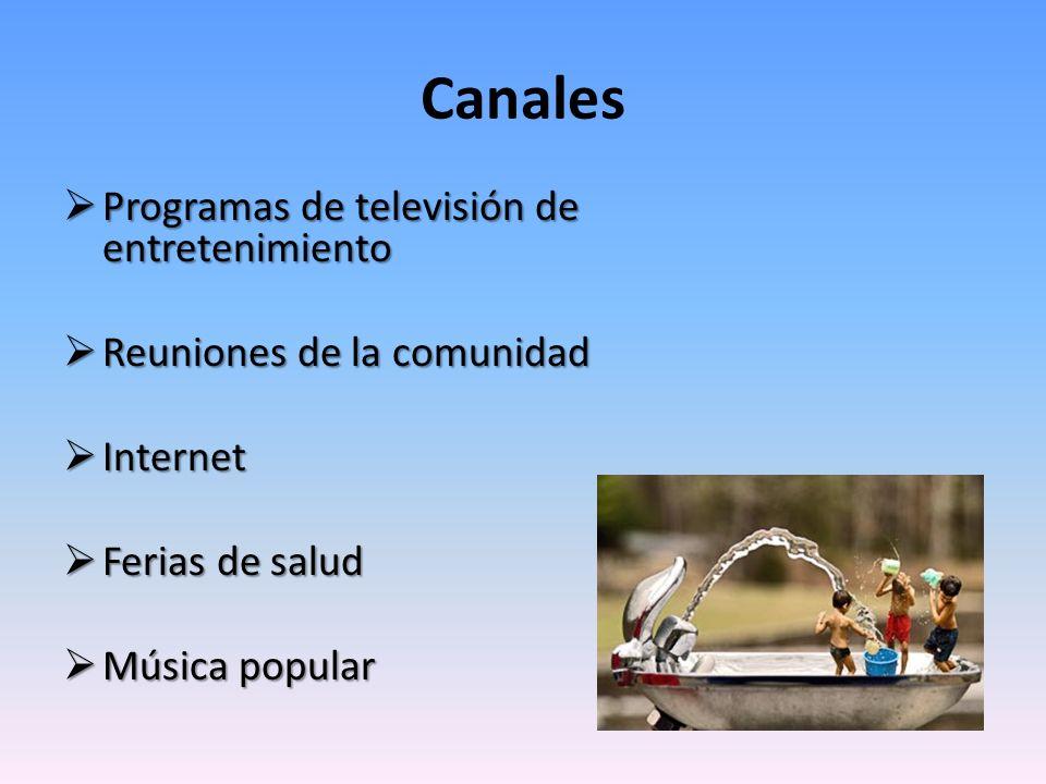 Canales Programas de televisión de entretenimiento