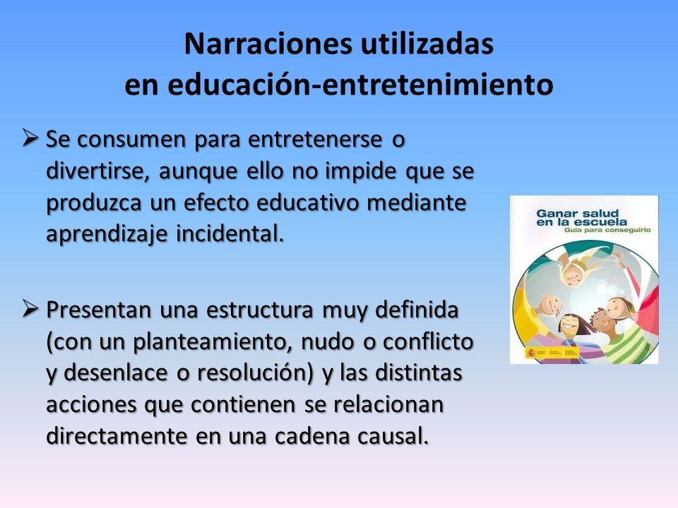 Narraciones utilizadas en educación-entretenimiento