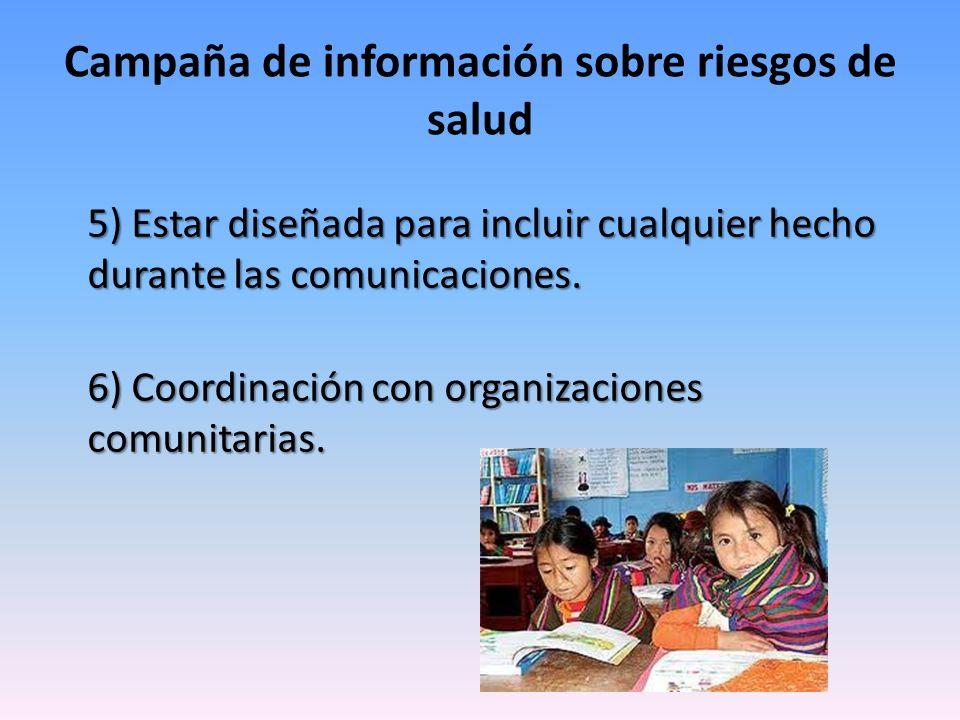 Campaña de información sobre riesgos de salud