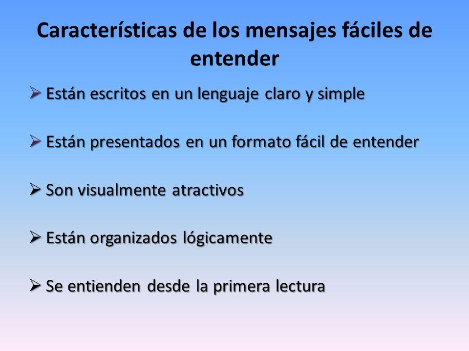 Características de los mensajes fáciles de entender