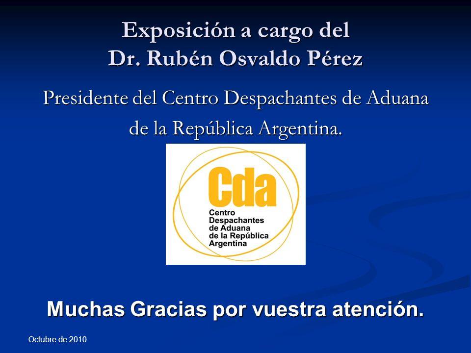 Exposición a cargo del Dr. Rubén Osvaldo Pérez