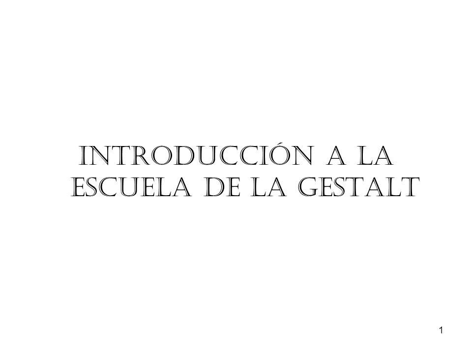 Introducción a la escuela de la Gestalt