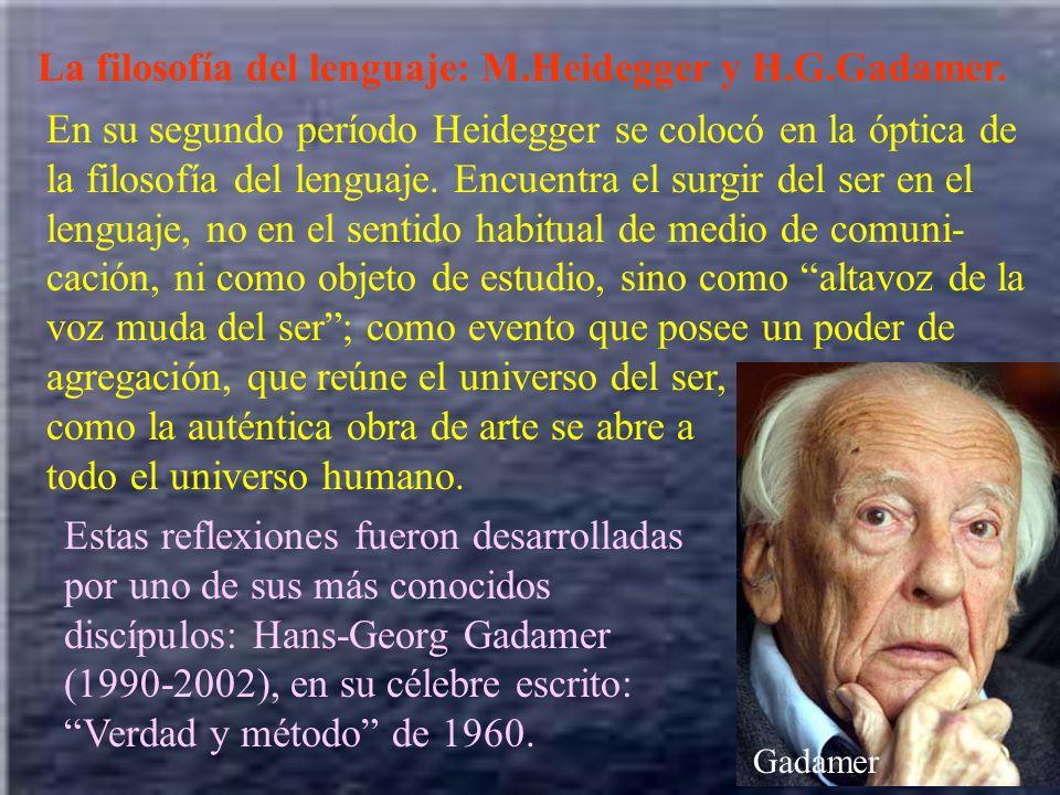 La filosofía del lenguaje: M.Heidegger y H.G.Gadamer.