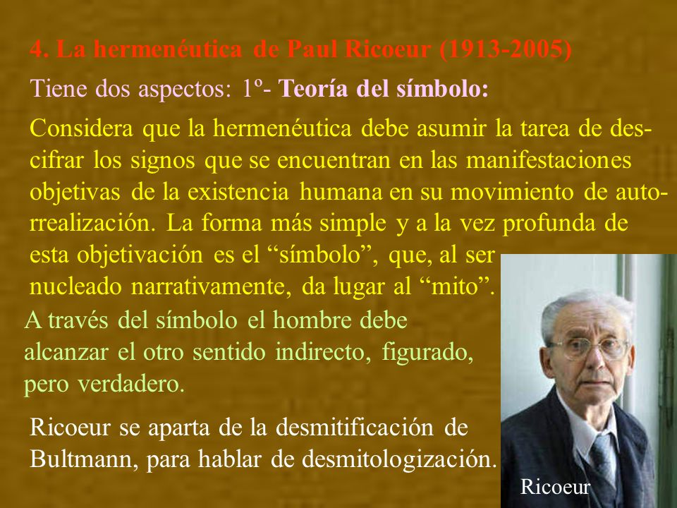 4. La hermenéutica de Paul Ricoeur (1913-2005)