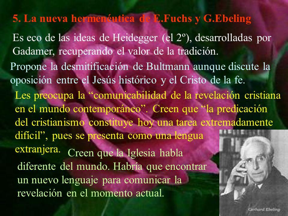 5. La nueva hermenéutica de E.Fuchs y G.Ebeling