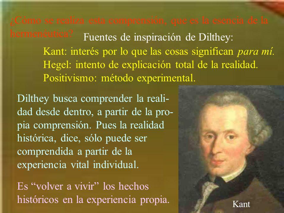 Fuentes de inspiración de Dilthey: