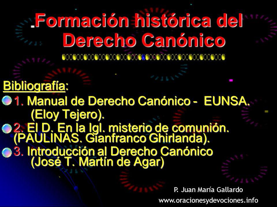 Formación histórica del Derecho Canónico