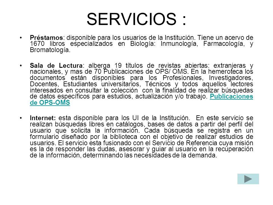 SERVICIOS :
