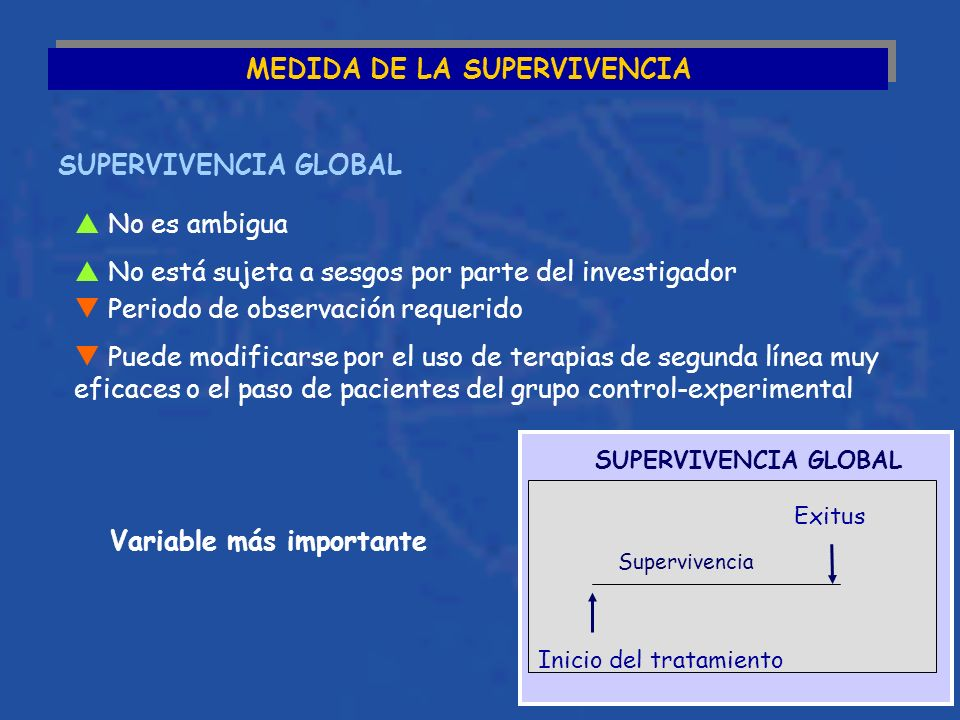 MEDIDA DE LA SUPERVIVENCIA Variable más importante