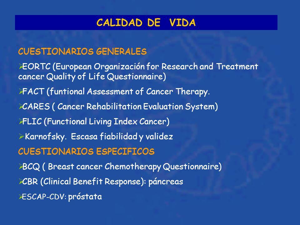 CALIDAD DE VIDA CUESTIONARIOS GENERALES