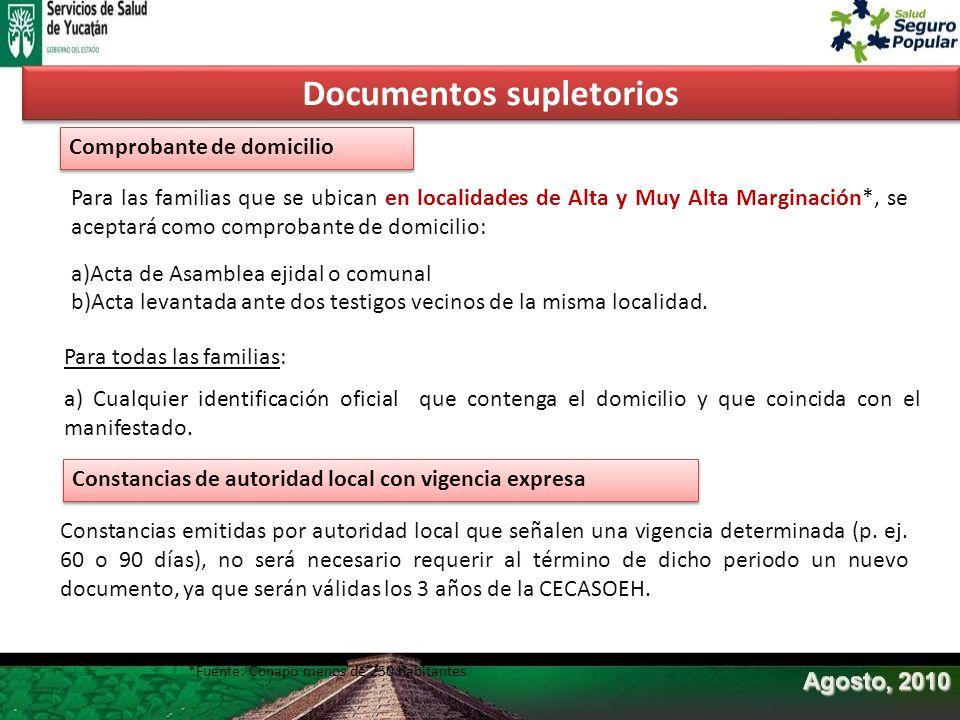 Documentos supletorios