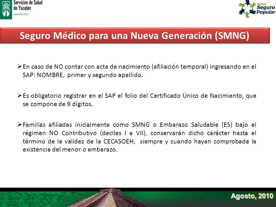 Seguro Médico para una Nueva Generación (SMNG)