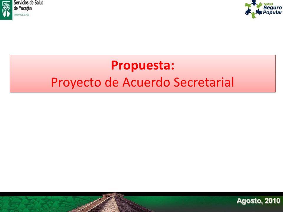 Proyecto de Acuerdo Secretarial