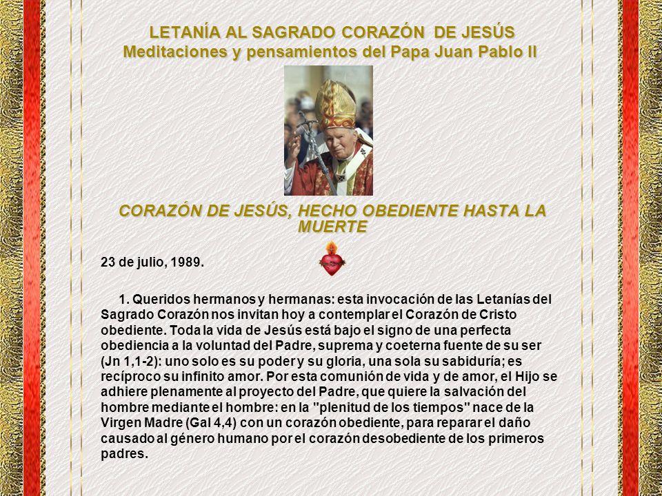 LETANÍA AL SAGRADO CORAZÓN DE JESÚS