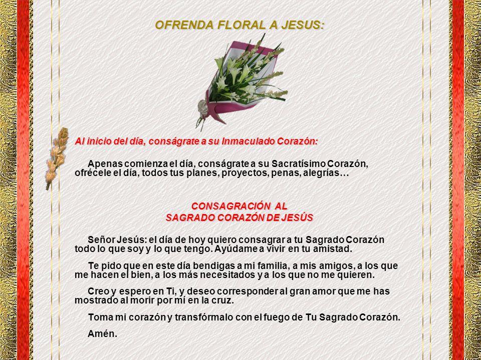 OFRENDA FLORAL A JESUS: SAGRADO CORAZÓN DE JESÚS