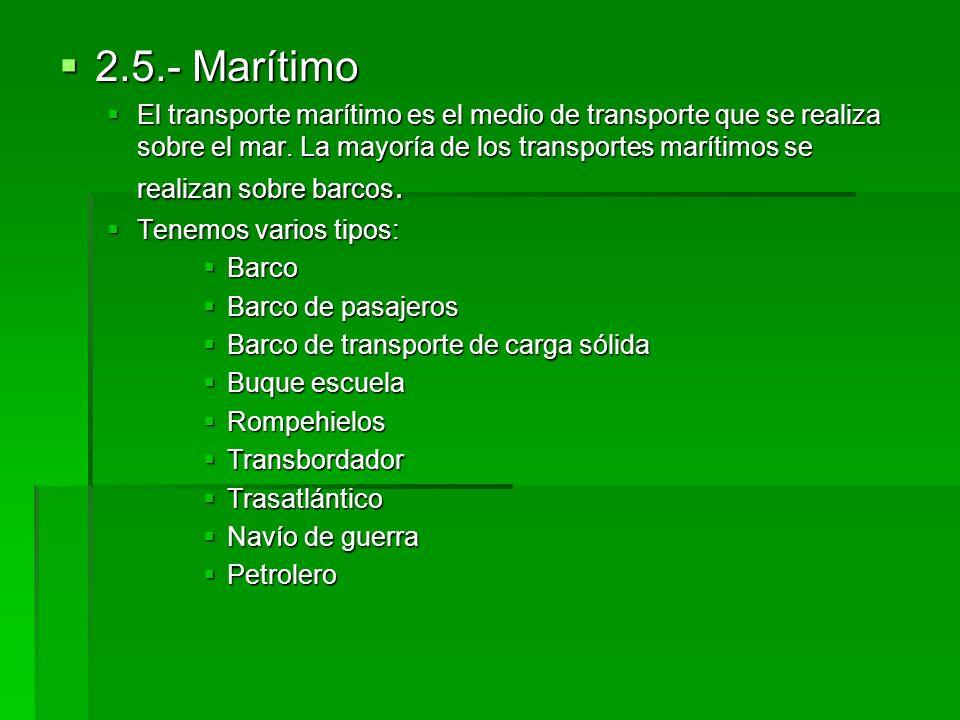 2.5.- Marítimo
