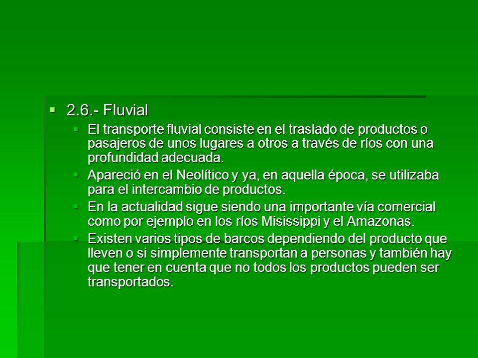 2.6.- Fluvial