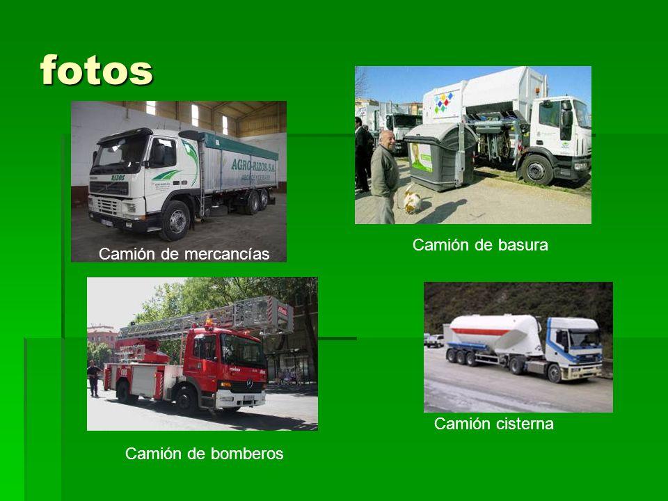 fotos Camión de basura Camión de mercancías Camión cisterna
