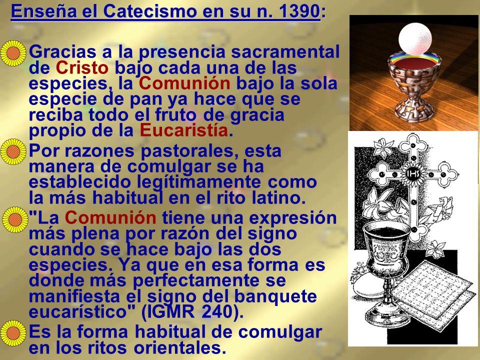 Enseña el Catecismo en su n. 1390: