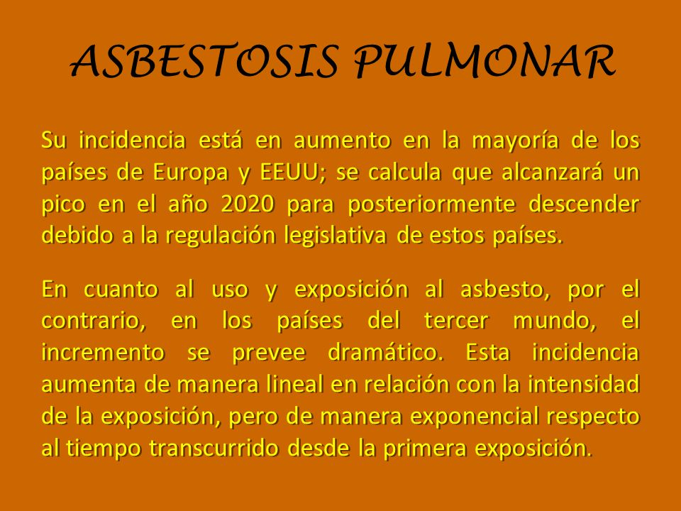 ASBESTOSIS PULMONAR