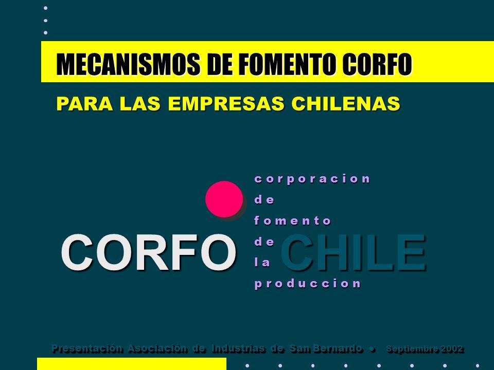 CORFO CHILE MECANISMOS DE FOMENTO CORFO PARA LAS EMPRESAS CHILENAS