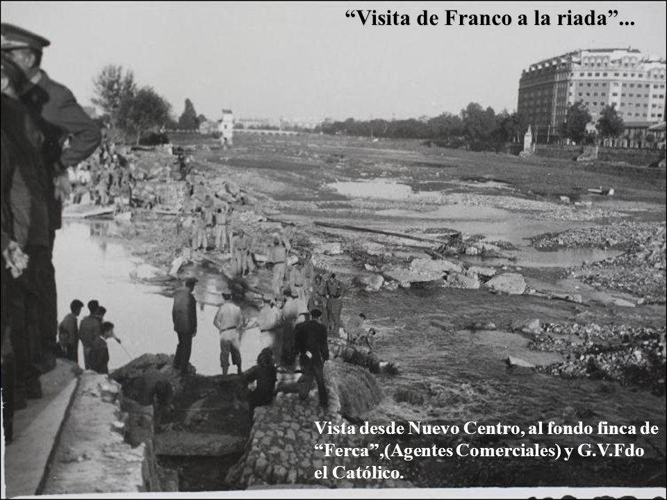 Visita de Franco a la riada ...