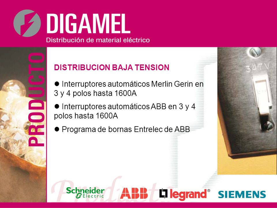 DISTRIBUCION BAJA TENSION