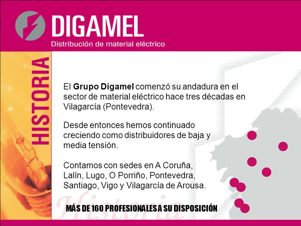 El Grupo Digamel comenzó su andadura en el sector de material eléctrico hace tres décadas en Vilagarcía (Pontevedra).