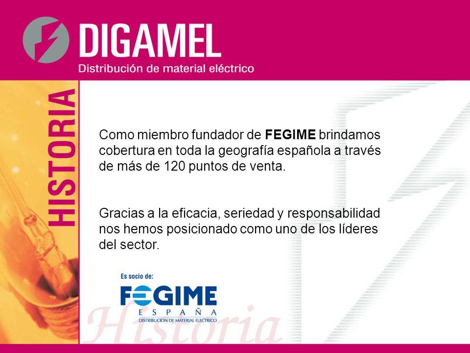 Como miembro fundador de FEGIME brindamos cobertura en toda la geografía española a través de más de 120 puntos de venta.
