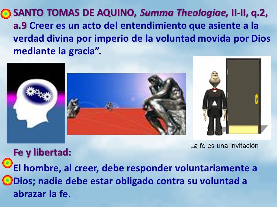 SANTO TOMAS DE AQUINO, Summa Theologiae, II-II, q. 2, a