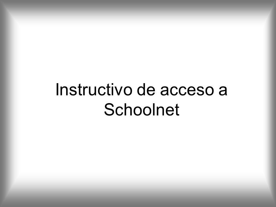 Instructivo de acceso a Schoolnet